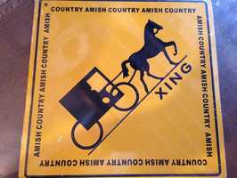 """A """"buggy crossing"""" sign found at Almost Paradise gift-shop on Lincoln Highway in Lancaster County."""
