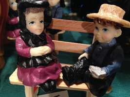 Amish figurines.