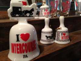 "Many popular souvenirs reference ""Intercourse, PA."""