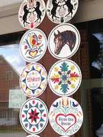 Hex signs like these are a part of the heritage of Pennsylvania Dutch Country.