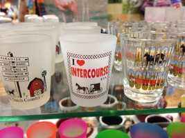 Shot glasses like these are a popular tourist find.