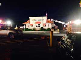 The fire started around 3 a.m. at the McDonald's on North Reading Road.