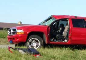 The driver was taken to Lancaster General Hospital with minor injuries.