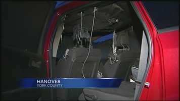 Twenty cars have been broken into, and two set on fire, in Hanover, York County.