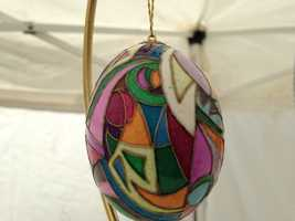 """""""It's part of my heritage,"""" said Zdinak, who's favorite egg designs are stained glass."""