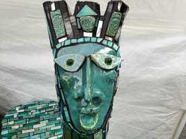 A mosaic piece by Celeste Kelly.