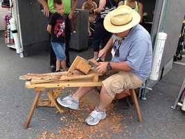 Mark Bair ofM.D. Bair Woodcarving Studioshowcased his hand-carved woodwork at the event.