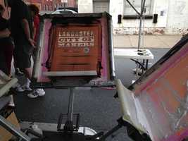 Attendees were invited to create their own screen-printed T-shirts at the event.