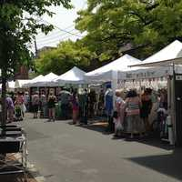 Hundreds of people flocked to the 300 block of N. Queen Street to see the work of regional andPennsylvania Guild of Craftsmencrafters.