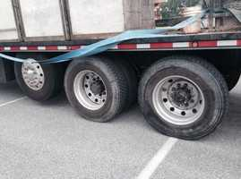 Police are looking into whether someone may have intentionally loosened all of the lug nuts on the cement panel truck. Other wheels on the truck were also loose.