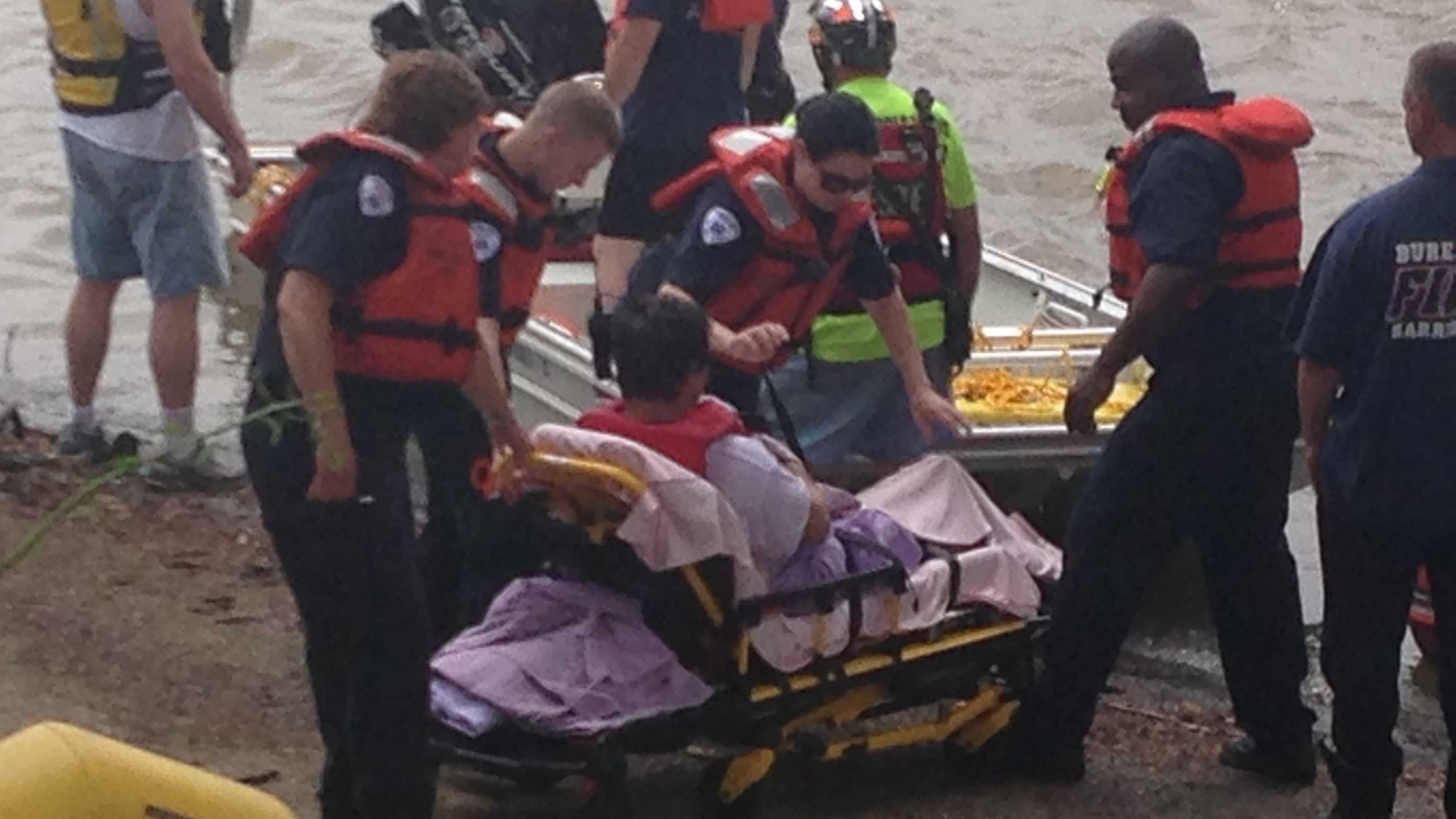 Two kayakers were rescued from the Susquehanna River on Tuesday morning.