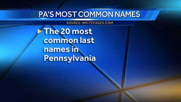 Is your last name one of the most common in Pennsylvania? WhitePages.com crunched the numbers to see what the 20 most common last names are in the Keystone state.