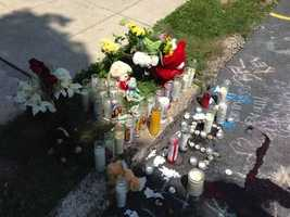 A makeshift memorial is growing in the area of South West End Avenue and Fourth Street in Lancaster Township.