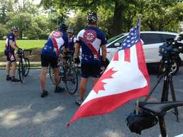 The group includes disabled veterans, vets, and civilians from the U.S., Canada, and Denmark.