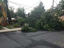 The severe weather hit Manheim hard.
