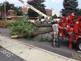 Crews are cleaning up all over Manheim Boro., Lancaster County.