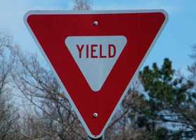 5: Drivers who can't yield. A yield sign is not a stop sign, yet some drivers slam on their brakes when they see one, regardless of whether traffic is coming or not.