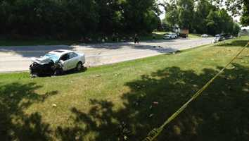 The crash happened Tuesday afternoon, July 8, in West Lampeter Township, Lancaster County.