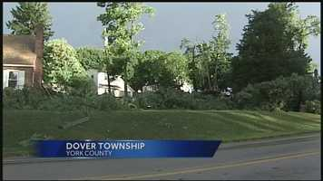 Like many places across the Susquehanna Valley, trees were down in Dover, York County.