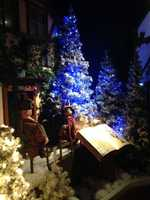 "One exhibit features the Christmas storybook ""Meggie and Jestifer Rabbit"" and brings ""TudorTowne"" to life."