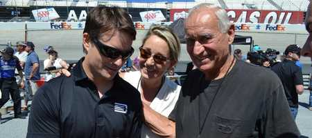 Kim had the chance to meet Jeff Gordon with her Dad at a NASCAR race.