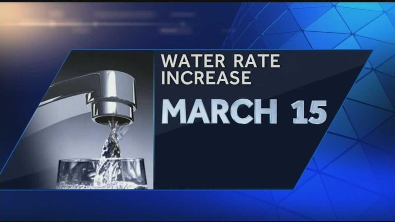 Water rate increase 7.23.14