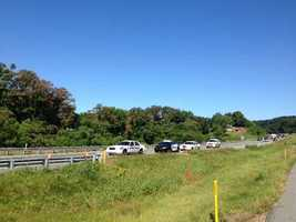 The accident happened in the eastbound lanes of Route 30 near the Malleable Road overpass.