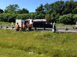 The crash happened around 9:30 a.m.