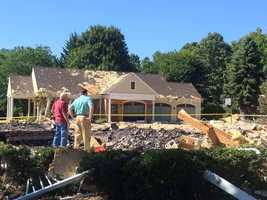 A family of five lived in the house along the 100 block of Calvary Church Road in Lower Windsor Township. Fortunately, no one was home at the time of the blast.