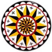 A 12-point star design.