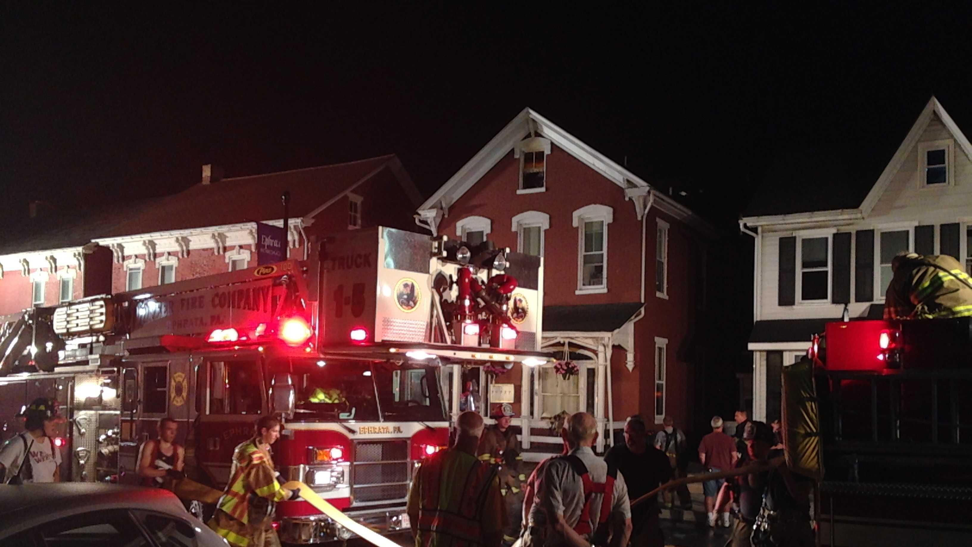 8.5.14 ephrata apartment fire pic