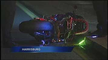 Police say the driver lost control after hitting a construction sign. He was flown to Hershey Medical Center but died of his injuries.