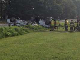 Two vehicles rolled over along Route 30 Monday morning in Lancaster County.