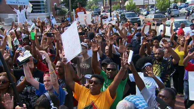 Ferguson, Missouri rally