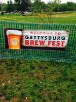 The first Gettysburg Brew Fest sounded off with a blast of a cannonon Saturday on the Gettysburg battlefield at Seminary Ridge.