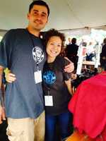 Justin and Christina Lee manned the Stoudt's Brewing Company table. Stoudt's is based in Adamstown, Lancaster County.