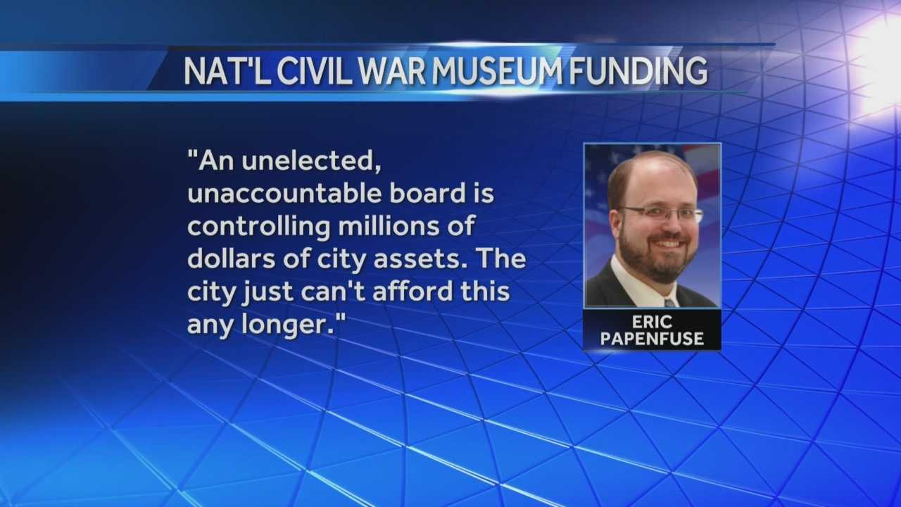 News 8 Today 8.27.14 civil war museum funding