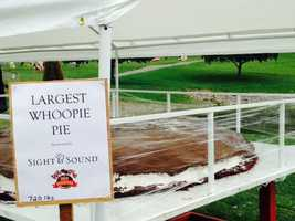 """The """"Largest Whoopie Pie"""" at the festival had its own tent."""