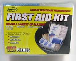 First Aid kits come in different shapes and sizes.