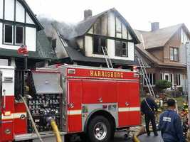 Crews responded to a fire that spread to multiple homes in Harrisburg around 9 a.m. Thursday.