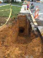 A storm-water repair in Manheim, Lancaster County took a turn for the worst after a large sinkhole was found.