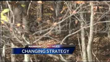 Monday, October 13, 2014: State police announce a change in strategy as leaves continue to fall from trees, making the landscape more visible. This will also help their thermal imaging technology work more efficiently. Two Harrisburg officers and their K-9's are also added to the search crew.