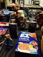 """Pictured: """"E.T."""" memorabilia."""