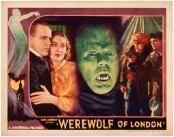 'Werewolf of London' 1935 lobby card, rarest of six different Werewolf lobby cards entered in the auction, est. $5,000-$10,000.