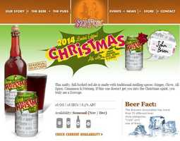 Christmas Ale from Sly Fox Brewery in Phoenixville and Pottstown, PA.