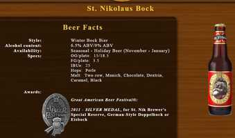 St. Nikolaus Bock by Pennsylvania Brewing Company (Penn Brewery) in Pittsburgh, PA.