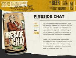 Fireside Chat Winter Spice Ale from 21st Amendment Brewery in San Francisco, California.