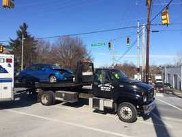 Police say a driver drove through a stop sign and caused a crash in York County on Tuesday morning. The accident happened at Springwood and Chestnut Hill roads.