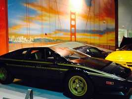 """This is a similar model to the Lotus car pictured in the 1990 film """"Pretty Woman."""" It is a 1979 Espirt S2 World Championship commemorative model. The car's owner is based in Macungie, Pennsylvania."""