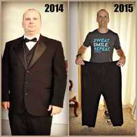 Before and After:Meet Bryan Hoover of Harrisburg. He lost 70 pounds!He even has plans to run a marathon this November.